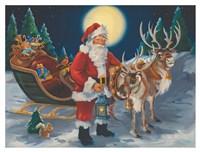 Santa with lantern Fine-Art Print