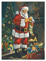Sneaking Santa Fine-Art Print