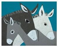 Donkey Family Fine-Art Print