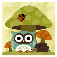 Owl and Hedgehog Fine-Art Print