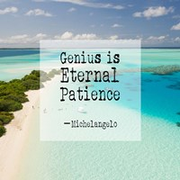 Genius is Eternal Patience - Beach Fine-Art Print