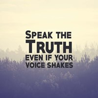 Speak The Truth - Yellow Fine-Art Print