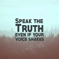 Speak The Truth - Blue Fine-Art Print
