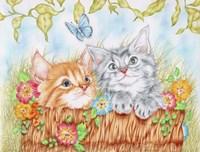 Watching Kittens Fine-Art Print