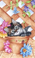 Trellis Kitty Fine-Art Print