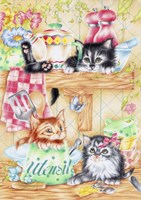 Kitty Kitchen Fine-Art Print