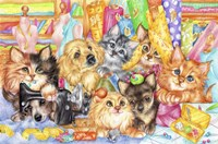 Dressmaker Kitties Fine-Art Print