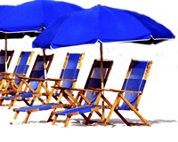 Beach Chairs II Fine-Art Print