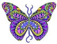 Bashful Garden Butterfly Blooming Fine-Art Print