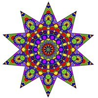 Being Silly Mandala Colored Fine-Art Print