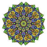 Colorful Calming Mandala Fine-Art Print