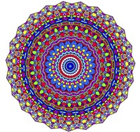 Coral Reef Mandala Fine-Art Print