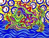 Freddy the Fish Swimming Fine-Art Print