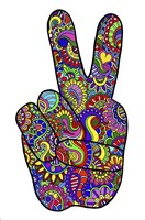Psychedelic Mehndi Peace SIgn Fine-Art Print
