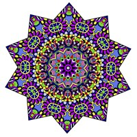Shining Mandala in Purples Fine-Art Print