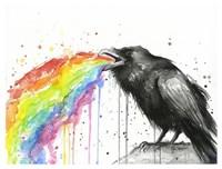 Raven Tastes the Rainbow Fine-Art Print