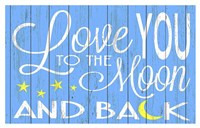 Love You to the Moon - Blue Fine-Art Print