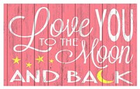 Love You to the Moon - Pink Fine-Art Print