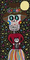 Day of the Dead Girl with Cat Fine-Art Print