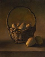 Basket With Pears Fine-Art Print