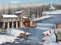 Pigeon Forge In The Winter Fine-Art Print