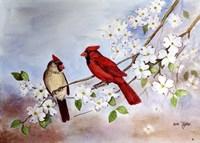 Cardinals and Dogwood Fine-Art Print