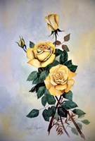 Yellow Roses Sprig Fine-Art Print