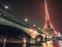 Eiffel & Bridge at Night Fine-Art Print
