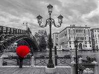 Venice BW with Red Fine-Art Print
