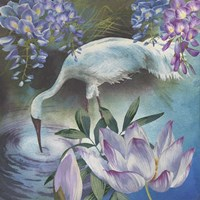 Crane & Wisteria Fine-Art Print