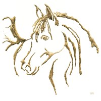 Gilded Mare on White Fine-Art Print