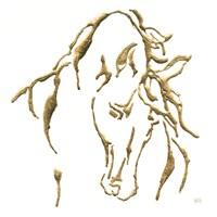 Gilded Stallion on White Fine-Art Print