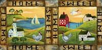 Home Sweet Home Country Folk Art Fine-Art Print