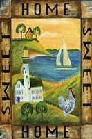 Home Sweet Home Seaside Flag Fine-Art Print