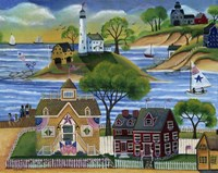 Americana Seaside Lighthouse Fine-Art Print
