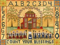 Count Your Blessings School Sampler Fine-Art Print