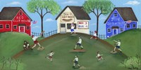 Red Blue Baseball Game Fine-Art Print