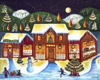 Christmas Country Shops Fine-Art Print
