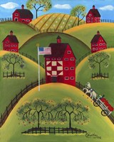 Red Apple Quilt Barns Fine-Art Print