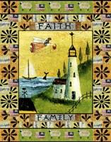 Angel American Faith Family Fine-Art Print