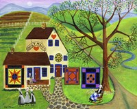 Amish Country Quilt Makers Fine-Art Print