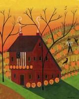 Sunset Pumpkin Saltbox Fine-Art Print