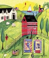 Faith Family Red Farmhouse Fine-Art Print