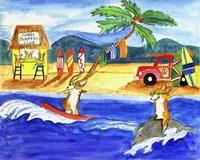 Corgi Surfers Club Fine-Art Print