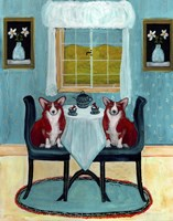 Doggie Tea Time Fine-Art Print