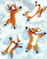 Snow Angel Dogs Fine-Art Print