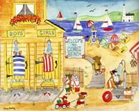Welcome To Corgi Dog Beach Fine-Art Print