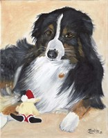 Collie Sal and toy Fine-Art Print