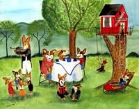 Corgi Dog Tea Party Fine-Art Print