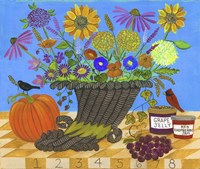Cornucopia Thanksgiving Sampler Bouquet Lang 2017 Fine-Art Print